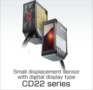Small displacement sensor with digital display type CD22 series