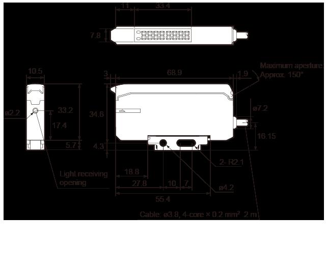 led lighting lighting monitoring and illumination check sensor stand alone mdf tn mdf htn