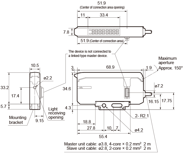 led lighting lighting monitoring and illumination check sensor inter connection type mdf tmn mdf tsn